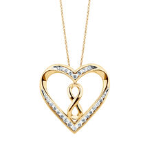Infinitas Pendant with 1/2 Carat TW of Diamonds in 10ct Yellow Gold