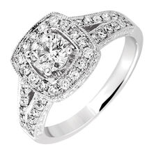 Engagement Ring with 1.05 Carat TW of Diamonds in 14kt White Gold