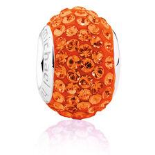 Orange Crystal Charm