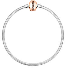 "10ct Rose Gold & Sterling Silver 19cm (7.5"") Charm Bracelet"