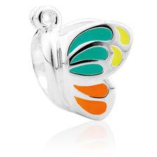 Sterling Silver & Enamel Butterfly Charm
