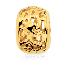 Online Exclusive - Patterned Charm in 10ct Yellow Gold