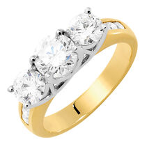 Evermore Engagement Ring with 2 Carat TW of Diamonds in 18ct Yellow & White Gold
