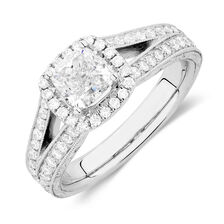 Michael Hill Designer Amoroso Engagement Ring with 1 7/8 Carat TW of Diamonds in 14kt White Gold