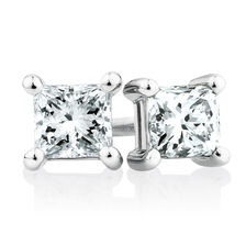 Stud Earrings with 3/4 TW of Diamonds in 18ct White Gold