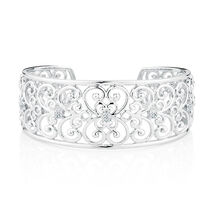 Online Exclusive - Cuff with Diamonds in Sterling Silver