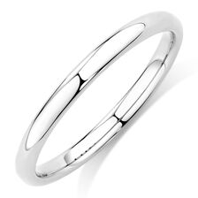 Plain Stack Ring in 10ct White Gold