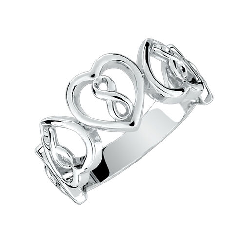 Infinitas Ring in Sterling Silver