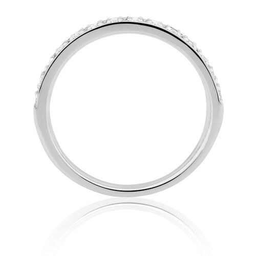 wedding band with 1 2 carat tw of diamonds in 14ct white gold