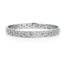 Bangle with 1/4 Carat TW of Diamonds in Sterling Silver