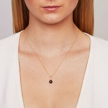 Pendant with Black Cultured Freshwater Pearl in 14ct Yellow Gold