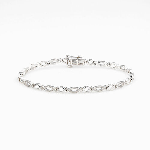 Online Exclusive - Tennis Bracelet with 1/2 Carat TW of Diamonds in 10kt White Gold
