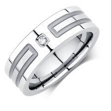 Men's Diamond Set Ring in Cobalt