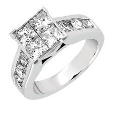 Engagement Ring with 2 3/4 Carat TW of Diamonds in 14kt White Gold