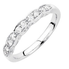 Wedding Band with 0.33 Carat TW of Diamonds in 10kt White Gold