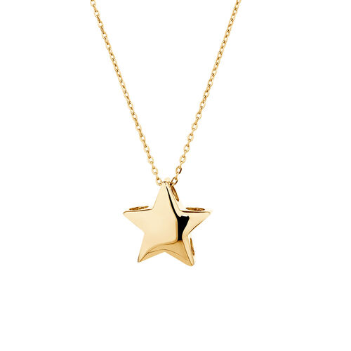 Mini Star Necklace in 10ct Yellow Gold