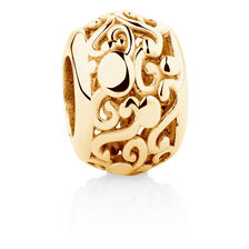 Patterned Charm in 10ct Yellow Gold