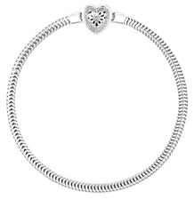Online Exclusive - Diamond Set Sterling Silver Charm Bracelet