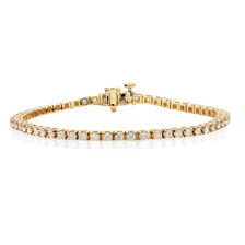 Tennis Bracelet with 2 Carat TW of Diamonds in 18ct Yellow Gold