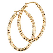 Online Exclusive - Hoop Earrings in 10ct Yellow Gold