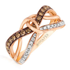 Le Vian Ring with 1/2 Carat TW of Chocolate & Vanilla Diamonds in 14kt Rose Gold