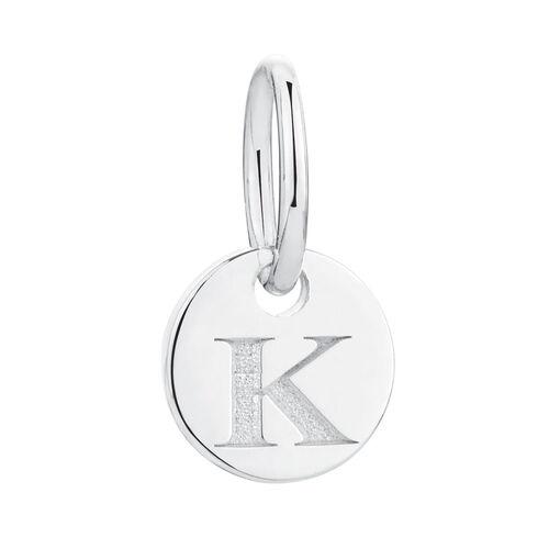 K' Mini Pendant in Sterling Silver