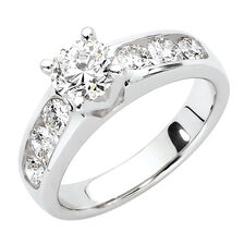 Engagement Ring with 1.70 Carat TW of Diamonds in 18ct White Gold