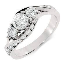Online Exclusive - Engagement Ring with 1 1/2 Carat TW of Diamonds in 14kt White Gold