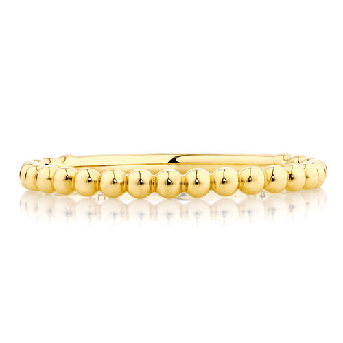 Ball Stack Ring in 10kt Yellow Gold