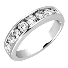 Wedding Band with 1.04 TW of Diamonds in 14kt White Gold