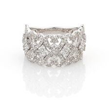 Online Exclusive - Heart Ring with 1 Carat TW of Diamonds in 10ct White Gold