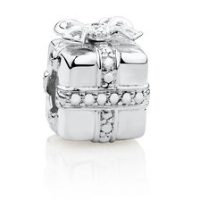 Present Charm with Cubic Zirconia in Sterling Silver