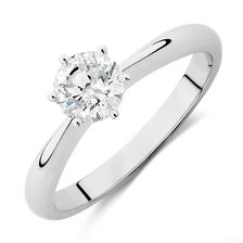 Online Exclusive - Evermore Certified Solitaire Engagement Ring with a 0.70 Carat Diamond in 18kt White Gold
