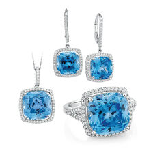 Blue Cubic Zirconia Set