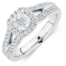 Sir Michael Hill Designer GrandAmoroso Engagement Ring with 1.54 Carat TW of Diamonds in 14kt White Gold