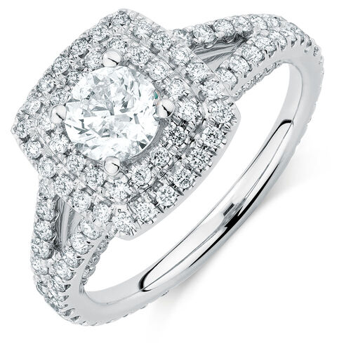 Michael Hill Designer Arpeggio Engagement Ring with 1 3/4 Carat TW of Diamonds in 14kt White Gold