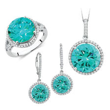 Mint Green Cubic Zirconia Set