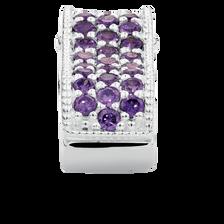 Purple Cubic Zirconia & Sterling Silver Double Stopper