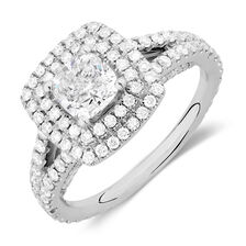 Michael Hill Designer Arpeggio Engagement Ring with 1.95 Carat TW of Diamonds in 14ct White Gold