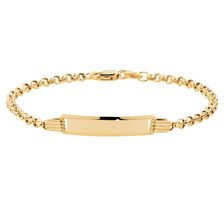 Baby Identity Bracelet in 10ct Yellow Gold