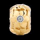 Diamond Set 10kt Yellow Gold Flower Charm
