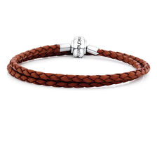 "Brown Leather Double Length 38cm (15"") Charm Bracelet"