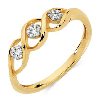 Ring with 1/15 Carat TW of Diamonds in 10kt Yellow Gold