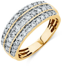 Online Exclusive - Ring with 1 Carat TW of Diamonds in 10kt Yellow Gold
