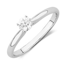 Online Exclusive - Certified Solitaire Engagement Ring with a 1/4 Carat TW Diamond in 18ct White Gold