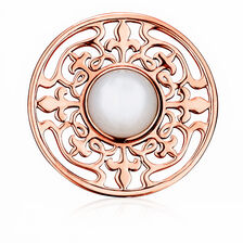 Coin Pendant Insert with Mother of Pearl in 10ct Rose Gold