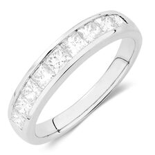 Wedding Band with 1 Carat TW of Diamonds in 14ct White Gold
