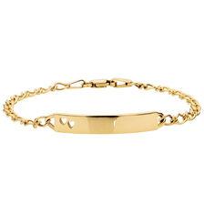 "14cm (6"") Baby Identity Bracelet in 10ct Yellow Gold"