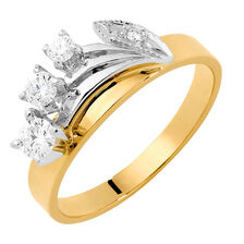 Wedding Band with 0.26 Carat TW of Diamonds in 18ct Yellow & White Gold