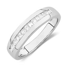 Men's Ring with 1/2 Carat TW of Diamonds in 14kt White Gold
